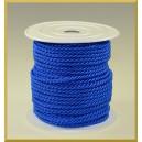 Sznurek oplatany 3,2mm niebieski/ 1m