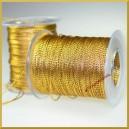 Sznurek metalizowany 1mm 4m złoty
