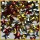 Cekiny gwiazdki wypukłe mix kolorów metaliczne 5g