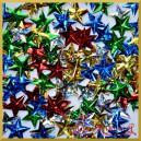 Cekiny gwiazdki wypukłe mix kolorów laserowe 5g
