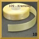 Tasiemka satynowa 25mm kolor 109 kremowa