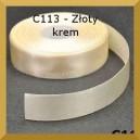 Tasiemka satynowa 25mm kolor C113 Złoty Krem