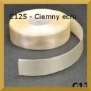 Tasiemka satynowa 25mm kolor C125 Ciemny Ecru