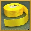 Tasiemka satynowa 25mm kolor 22 Żółta