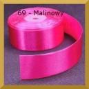 Tasiemka satynowa 25mm kolor 69 Malinowa