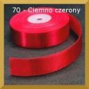 Tasiemka satynowa 25mm kolor 70 Ciemno czerwona