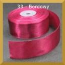 Tasiemka satynowa 25mm kolor 33 Bordowa