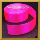 Tasiemka satynowa 25mm kolor 54 Neon pink