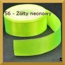 Tasiemka satynowa 25mm kolor 56 Żółta neonowa