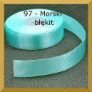 Tasiemka satynowa 25mm kolor 97 Morski błękit