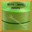 Tasiemka satynowa 6mm kolor 8074 jasno zielony