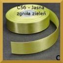 Tasiemka satynowa 25mm kolor C56 Jasna zgniła zieleń