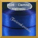 Tasiemka satynowa 6mm kolor 8108 ciemno niebieski