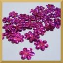 Cekiny kwiatuszki amarantowe laserowe