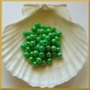 Perełki 8mm ciemno zielone opalizujące