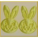 Główka króliczka jasno żółta
