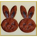 Główka króliczka brązowa
