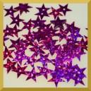 Cekiny gwiazdki amarantowe
