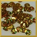 Cekiny 8mm  łamane laserowe złote
