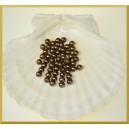Perełki 6mm brązowe perłowe