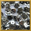 Cekiny 8mm łamane srebrne metaliczne