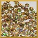 Cekiny kółka łamane 6mm - 12g złote laserowe