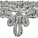 Taśma dekoracyjna kokardka srebrna 1mb