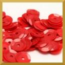 Cekiny kółka łamane 6mm 17g czerwone matowe b13