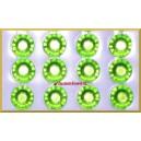 Diamenciki samoprzylepne 6mm ZIELONE