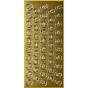Stickersy naklejki srebrne KIELICH IHS wz.6