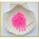 Perełki 6mm mocny róż perłowy