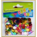 Cekiny metaliczne kwiatuszki-tłoczone mix 14g ET