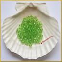 Diamenciki akrylowe przeźroczyste zielone 6mm/7g