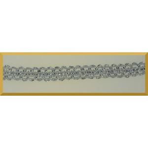 Taśma dekoracyjna srebrna T-10 A 1mb/9mm