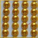 Perełki samoprzylepne złote perłowe 8 mm