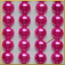 Perełki samoprzylepne amarantowe perłowe 8 mm