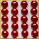 Perełki samoprzylepne czerwone perłowe 8 mm