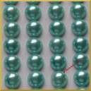 Perełki samoprzylepne bordowe perłowe 8 mm