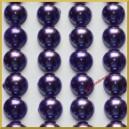 Perełki samoprzylepne fioletowe perłowe 8 mm