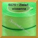 Tasiemka satynowa 6mm kolor 8075  zieleń wiosenna/ 20szt.