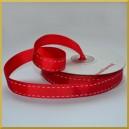 Taśma rypsowa czerwona 15mm/25mb