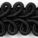 Taśma pleciony wężyk czarna 1mb