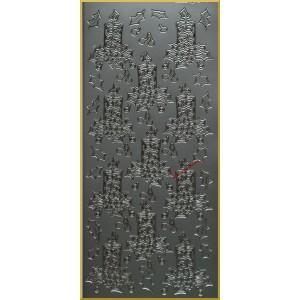 Stickersy SREBRNE - wzór20 - ŚWIECZKI