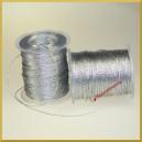 Sznurek metalizowany 1mm 100mb srebrny