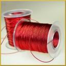 Sznurek metalizowany 1mm 4m czerwony