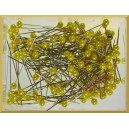 Szpilki z perłową główką żółte 4 mm 144 szt.