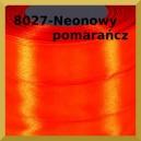 Tasiemka satynowa 25mm kolor 8027 neonowy pomarańcz
