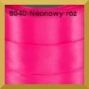 Tasiemka satynowa 12mm kolor 8040 neonowy róż