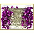 Szpilki z perłową główką fioletowe 6 mm 144 szt.