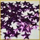 Cekiny gwiazdki wypukłe fioletowe metaliczne 5g